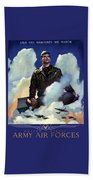 Join The Army Air Forces Beach Towel