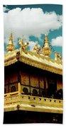 Jokhang Temple Fragment  Lhasa Tibet Artmif.lv Beach Towel