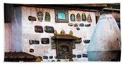 Jokhang Temple Wall Lhasa Tibet Artmif.lv Beach Sheet