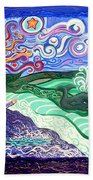 Jonah And The Whale Beach Towel by Genevieve Esson
