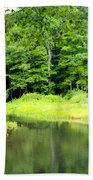 Jones Mill Run Creek Beach Towel