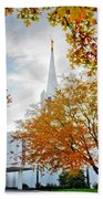 Jordan River Temple Beach Towel by La Rae  Roberts