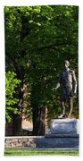 Joshua Lawrence Chamberlain Statue, Brunswick, Maine #0013 Beach Towel