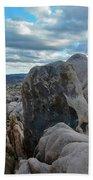 Joshua Tree Boulder Sky Beach Towel