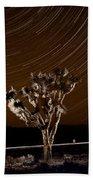 Joshua Tree Night Lights Death Valley Bw Beach Sheet