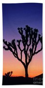 Joshua Tree With Special Effects Beach Towel