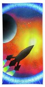 Journey To The Future  Beach Towel