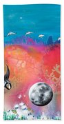 Journey To The Snow Coral Beach Towel