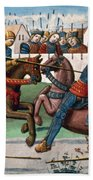 Jousting Knights, 1499 Beach Towel