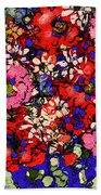 Joyful Flowers Beach Towel