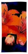 Joyful Lilies Beach Towel