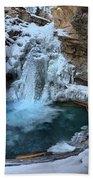 Johnston Canyon Winter Delight Beach Towel