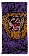 Judah The Real Lion King Beach Towel
