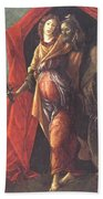 Judith Leaving The Tent Of Holofernes 1500 Beach Towel