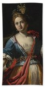 Judith With The Head Of Holofernes 2 Beach Towel