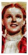 Judy Garland, Vintage Actress By Mb Beach Towel