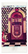 Juke Box Polaroid Transfer Beach Towel