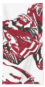 Julio Jones Atlanta Falcons Pixel Art 11 Beach Towel