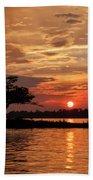 July Summer Sunset At Detroit Point Beach Towel