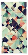 Jumble Of Colors And Texture Beach Towel