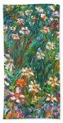 Jumbled Up Wildflowers Beach Towel