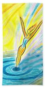 Jumping Right On Target Beach Towel