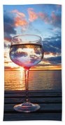 June Sunset Over Wolfe Island Beach Towel