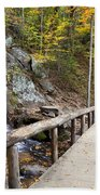Juney Whank Falls And A Place To Rest Beach Towel