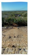 Jungle And Ruins View Beach Towel