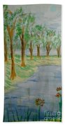 Jungle-brookside Beach Towel