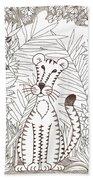 Jungle Cat Beach Towel