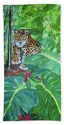 Jungle Jaguar Beach Towel