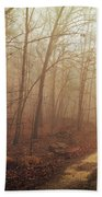 Jungle Journey - The Path Sepia Beach Towel