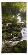 Jungle Riverflow Scene Beach Towel