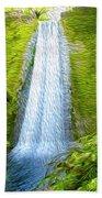 Jungle Waterfall Beach Towel