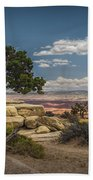 Juniper Tree On A Mesa Beach Towel