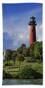 Jupiter Lighthouse Sq Beach Towel