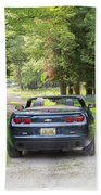 Just Married In The Car Beach Towel