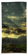 Just Over The Hill Beach Towel