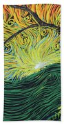 Just Over The Hill Too Beach Towel