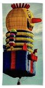Just Passing Through  Hot Air Balloon Beach Towel by Bob Orsillo