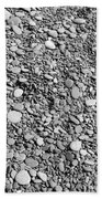 Just Rocks - Black And White Beach Sheet