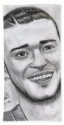 Justing Timberlake Portrait Beach Towel