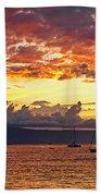 Ka'anapali Sunset Fire Beach Towel