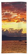 Ka'anapali Sunset Fire Beach Sheet