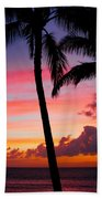 Kaanapali Sunset  Kaanapali  Maui Hawaii Beach Towel
