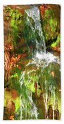 Waterfall Of Love Beach Towel