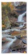 Kaaterskill Falls Autumn Portrait Beach Towel