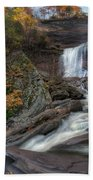 Kaaterskill Falls Autumn Square Beach Towel