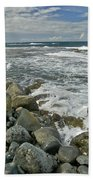 Kaena Point Shoreline Beach Towel